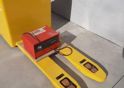 Hyundai 2,2 ton tweedehands elektrische pallettruck - vorkenbord
