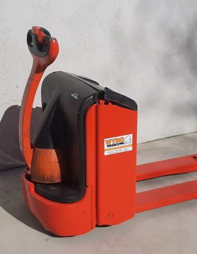 Linde 2 ton tweedehands elektrische pallettruck - zijkant