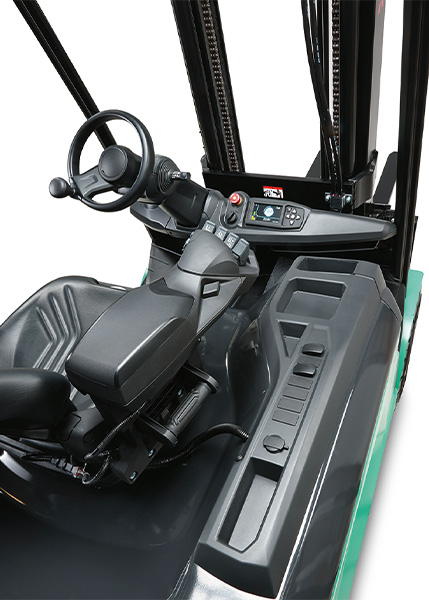 MX elektrische 4-wiel heftruck UniCarriers - dashboard