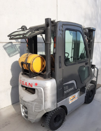 Nissan 1,8 ton tweedehands heftruck - achterkant