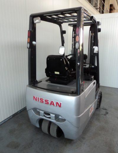 Nissan 1,8 ton tweedehands elektrische heftruck - achterkant