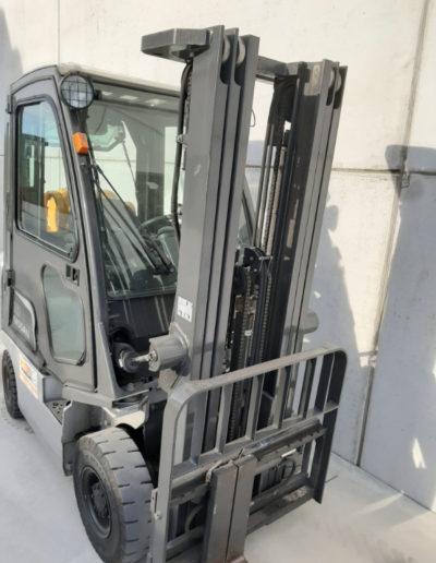 Nissan 1,8 ton tweedehands heftruck - mast