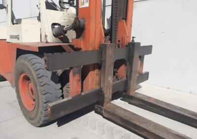 Nissan 7 ton tweedehands heftruck - vorkenbord
