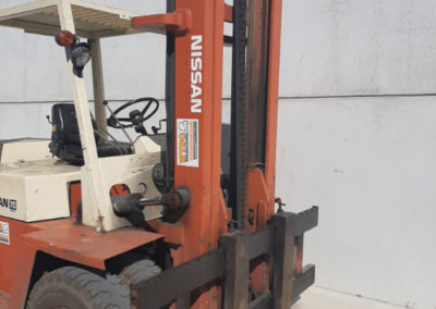 Nissan 7 ton tweedehands heftruck - mast