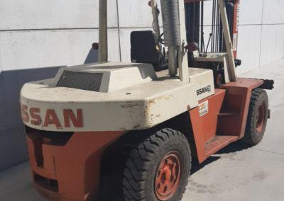 Nissan 7 ton tweedehands heftruck - achterkant
