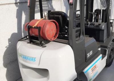 UniCarriers 2,5 ton heftruck - achterkant