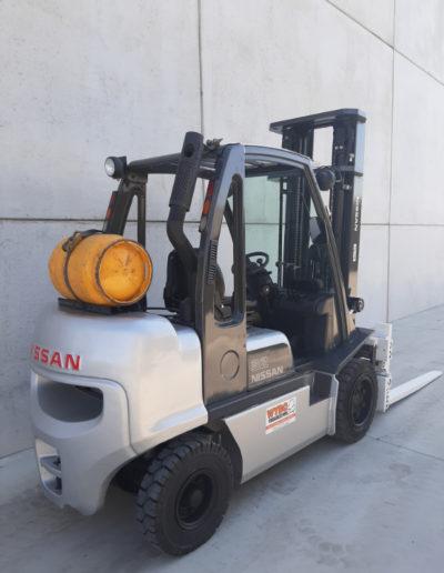3,2 ton tweedehands heftruck - achterkant