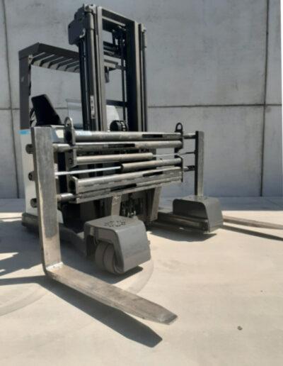 2,5 ton tweedehands elektrische zijlader - vorkenbord