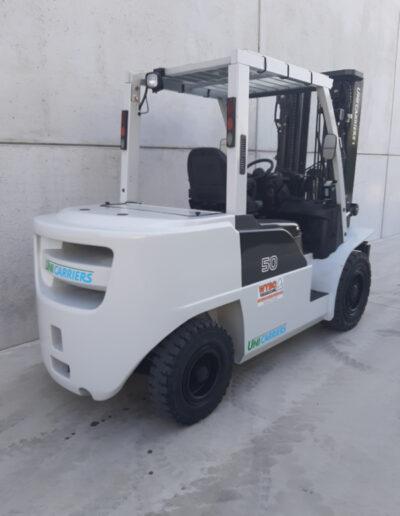 5 ton 2dehands Diesel heftruck - achterkant