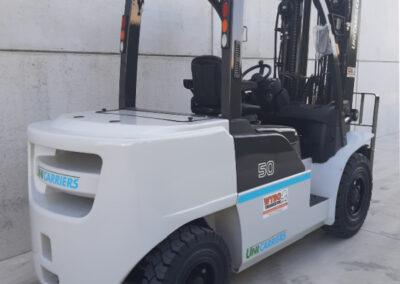 Nissan/UniCarriers 5 Ton diesel heftruck - achterkant