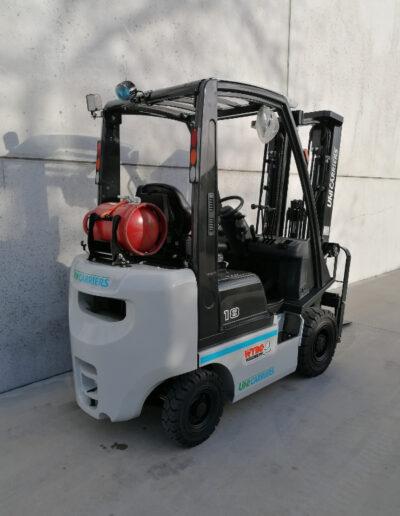 1,8 Ton nieuwe LPG heftruck UniCarriers - achterkant
