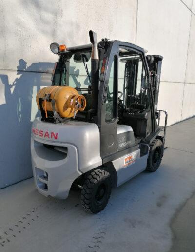 Nissan 2,5 Ton 2de hands LPG heftruck - achterkant