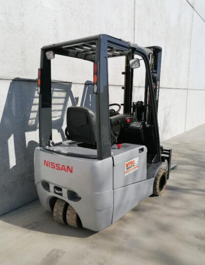 Nissan 1,8 ton tweede hands elektrische heftruck - achterkant